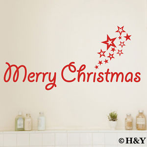 ... -Removable-Wall-Art-Quotes-Stickers-Vinyl-Decal-Decor-Xmas-Stars