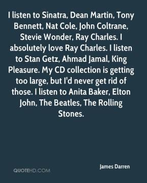 James Darren - I listen to Sinatra, Dean Martin, Tony Bennett, Nat ...