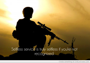Selfless Service Is Truly Selfless If Youre Not Recognized
