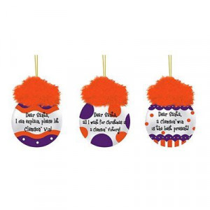 Clemson Tigers 3-Pack Team Sayings Ornaments