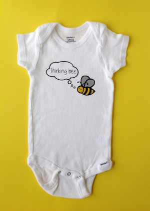 Bee Baby Clothes, Thinking Bee, Movie Quote/Reference, Funny Baby ...