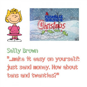 Sally Charlie Brown Christmas Quotes