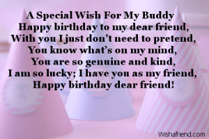 Special Wish For My Buddy