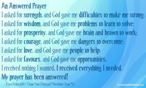 Quotes on Answered Prayer http://www.curiositiesbydickens.com/tag ...