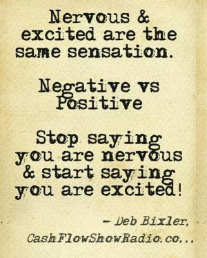 Nervous And Excited Quotes