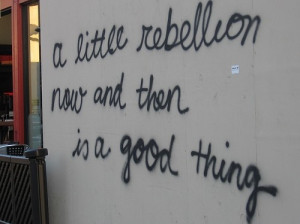 fun, graffiti, hehe, life, politics, quote, rebel, rebelion, rebellion ...