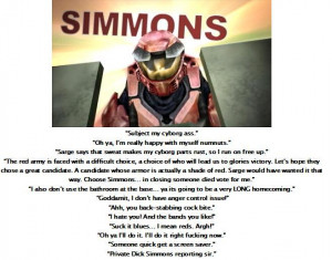 Red Vs Blue Simmons Red vs blue simmons motto by