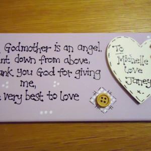 Buy Handmade Wooden Godparents Godmother Godfather Poem Plaque
