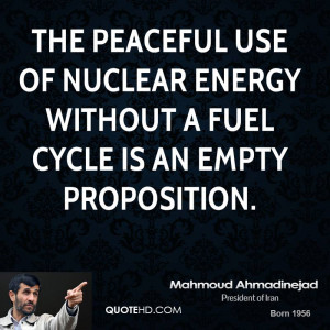 the peaceful use of nuclear energy without a fuel cycle is an empty ...