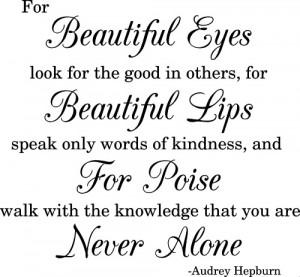 Audrey Hepburn Beautiful Eyes Quote