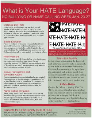 name calling bullying