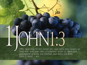 Bible Verses 1 John 1:3 Grapevine Picture HD Wallpaper