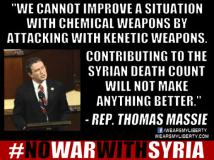 Thomas Massie: Civil War In Syria Is Not America's Fight