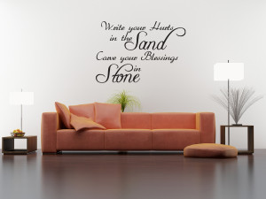 Wall-Quote-Decal-Vinyl-Sticker-Write-Your-Hurts-in-the-Sand-God ...