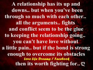 relationship has its up and downs..