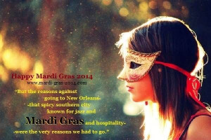 Happy Mardi Gras Sayings, Phrases, Quotes 2014 Cute Girl in mask ...