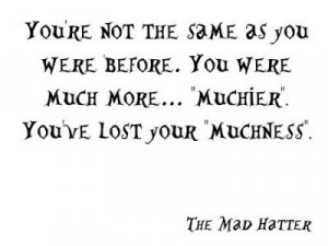 wonderland alice in wonderland quote the mad hatter hatter mad hatter ...