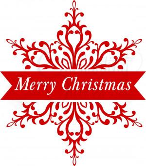 Merry Christmas Snowflake
