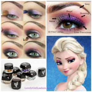 DIY Frozen Eye Makeup
