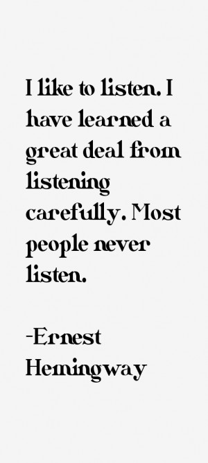 View All Ernest Hemingway Quotes