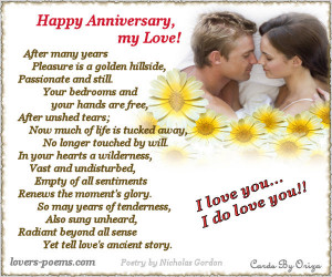 Happy Anniversary My Love The day you Came My I was blessed more than ...