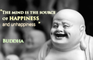 The mind source of happiness buddha picture quote