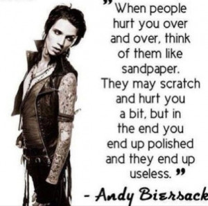 Andy 'Sixx' Biersack BVB Andy Biersack Quotes
