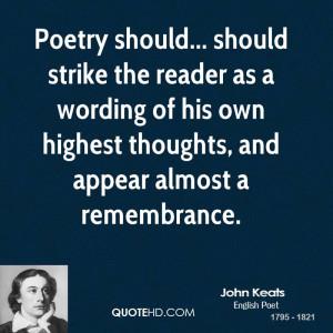 John Keats Poetry Quotes