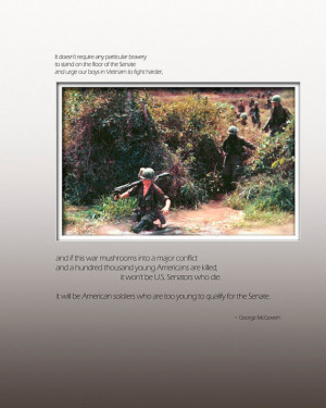 George McGovern Quote, Vietnam War, Veteran's Tribute Photo Print