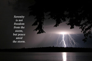 Lightning At Night - Inspirational Quote Photograph