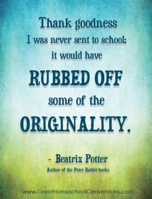 Homeschooling quote by Beatrix Potter