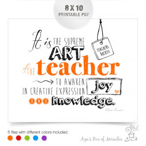 Teacher Appreciation Printable / Thank You by AgasBoxOfMiracles