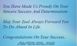 Congratulations Message For Achievement