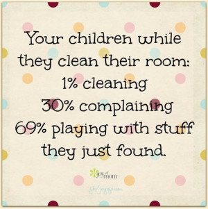Children cleaning their rooms
