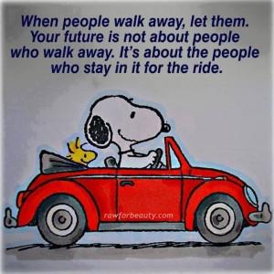 When people walk away..