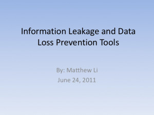 626 Information leakage and Data Loss Prevention Tools