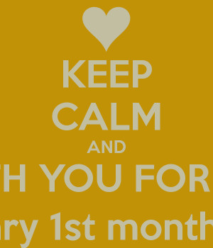 ... STAYS WITH YOU FOR A MONTH Happy Anniversary 1st month Nabila Fakhrana
