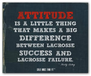 ... between lacrosse success and lacrosse failure.