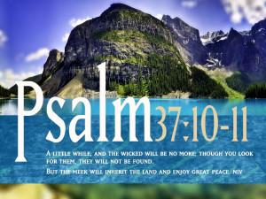 Inspirational Bible Verses Wallpaper Psalm 37 10 11 photos of Having ...