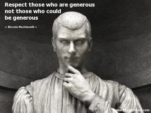 Respect those who are generous not those who could be generous