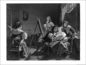 Samuel Pepys Pays Little Attention While Artist Paints Portrait of His ...