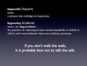 Walk the talk!