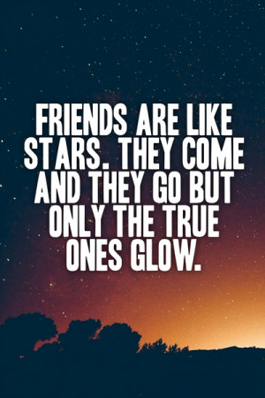 Friends are like stars - Quote Art Print