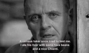 Silence Of The Lambs Quotes Some fava beans and a nice