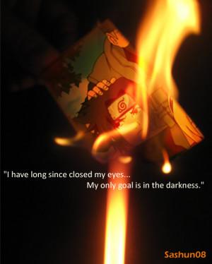 Sasuke Darkness Quotes Sasuke's darkness by sashun08