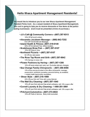 Click Here For The Ithaca Apartment Management