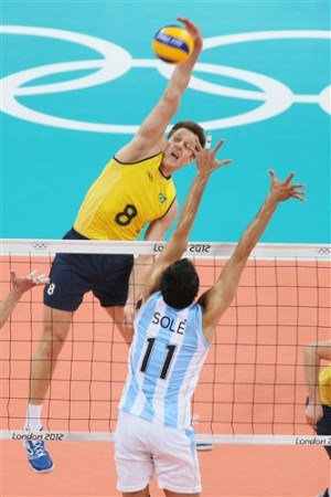 Volleyball Player Serving Most valuable player: murilo