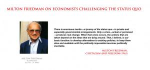 Milton Friedman - on challenging the status quo by YamaLama1986