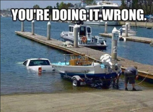 pick-up, truck, boat, outboard motor, dock, water, craft, 2, ramp ...