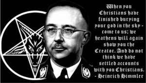 "This quote is taken from Heinrich Himmler's ""Voice of our ..."
